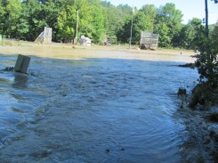 Flood Waters recede one day after Hurricane Irene