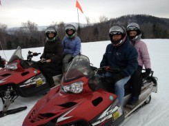 The Woods go Snowmobiling in Vermont Wonderland!