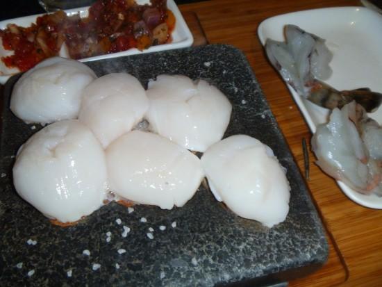 Black Rock Steakhouse scallops and shrimp