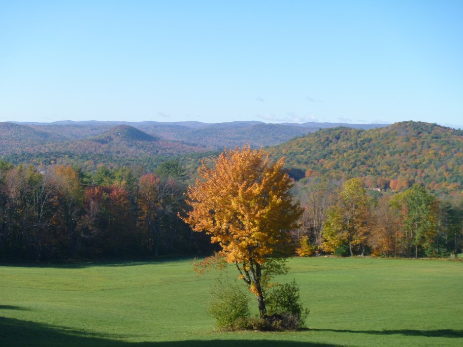 Fall foliage views in vermont